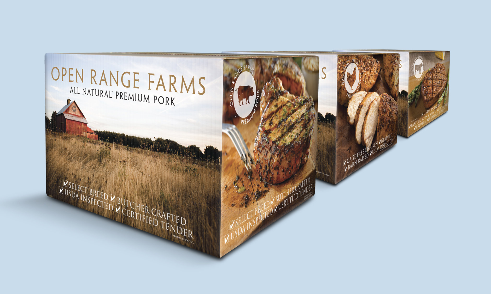 Stampede Meat Open Range Farms Pork Packaging