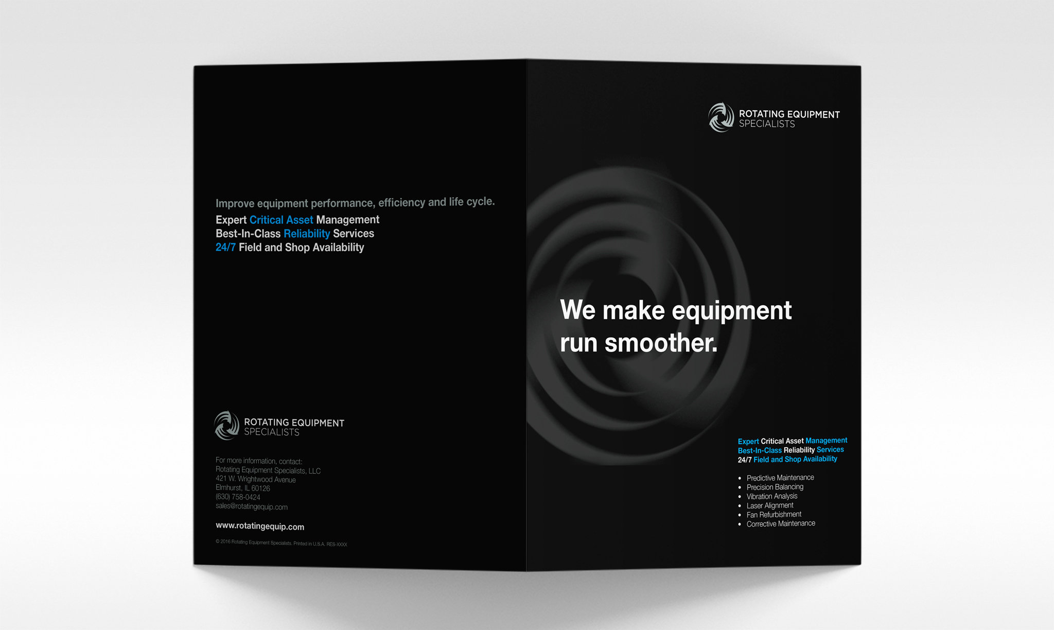 Rotating Equipment Specialists Brochure Cover