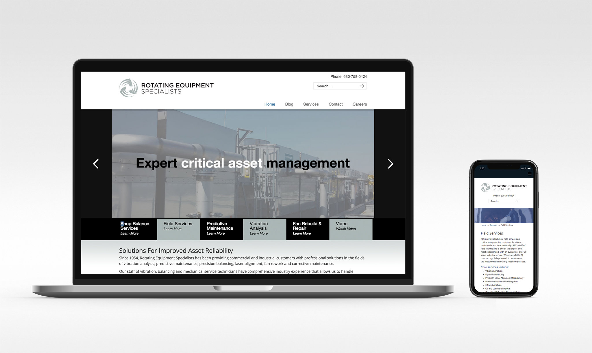 Rotating Equipment Specialists Website