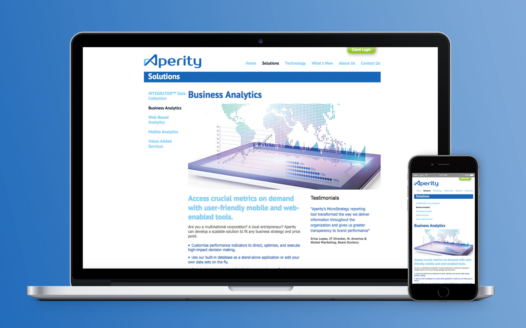 Aperity Website Integrator