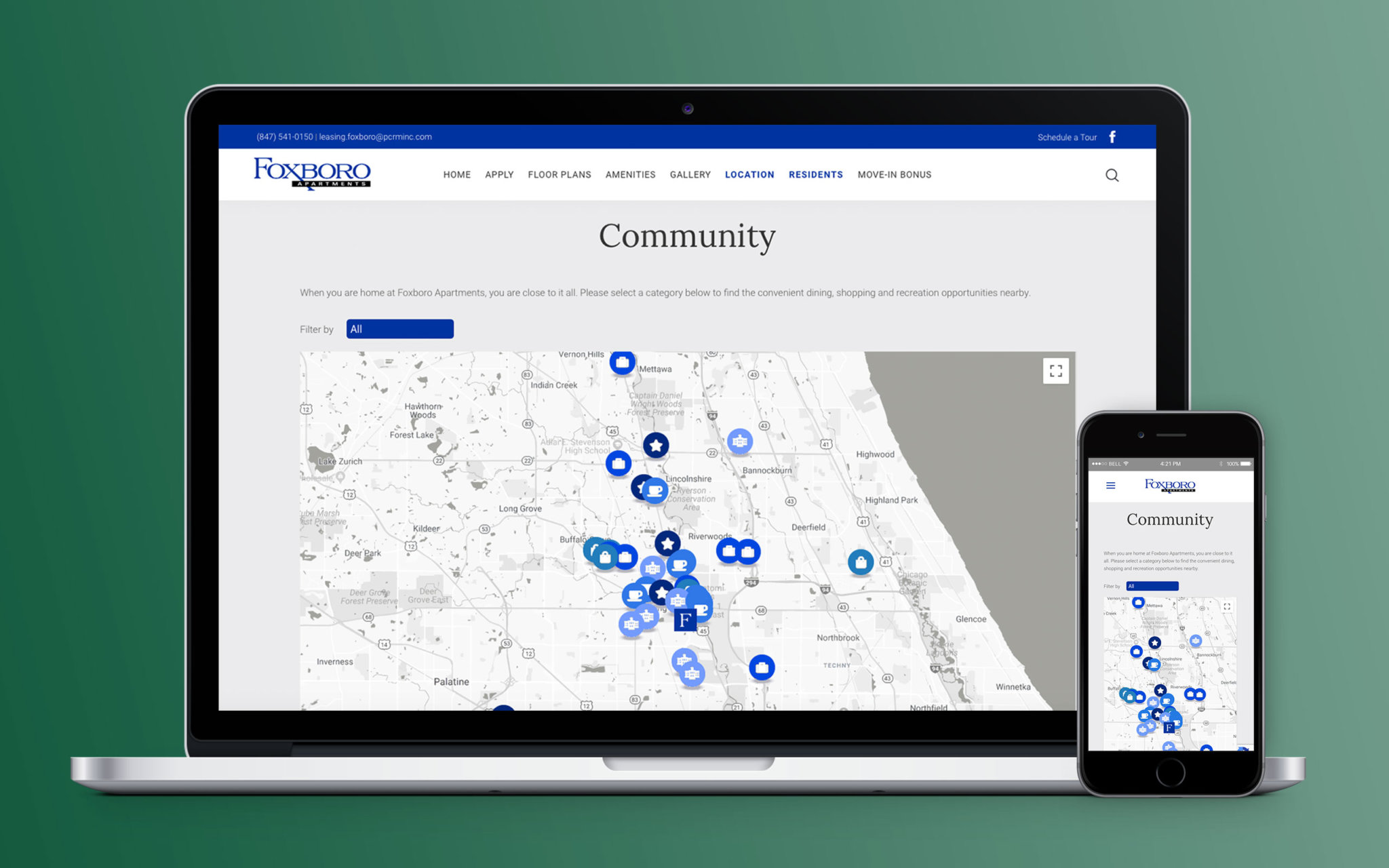 Foxboro Apartments Website Community