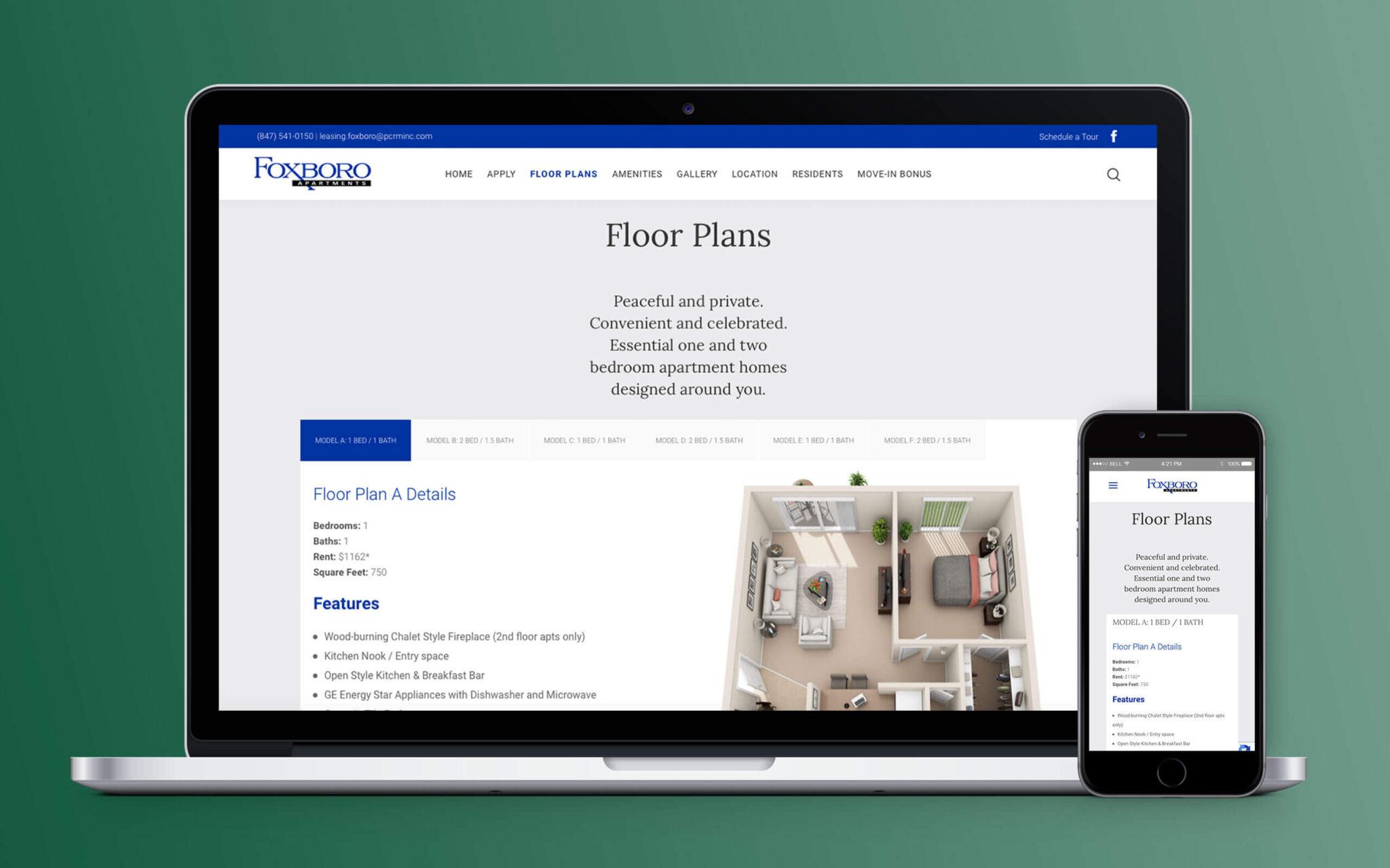 Foxboro Apartments Website Floor Plans