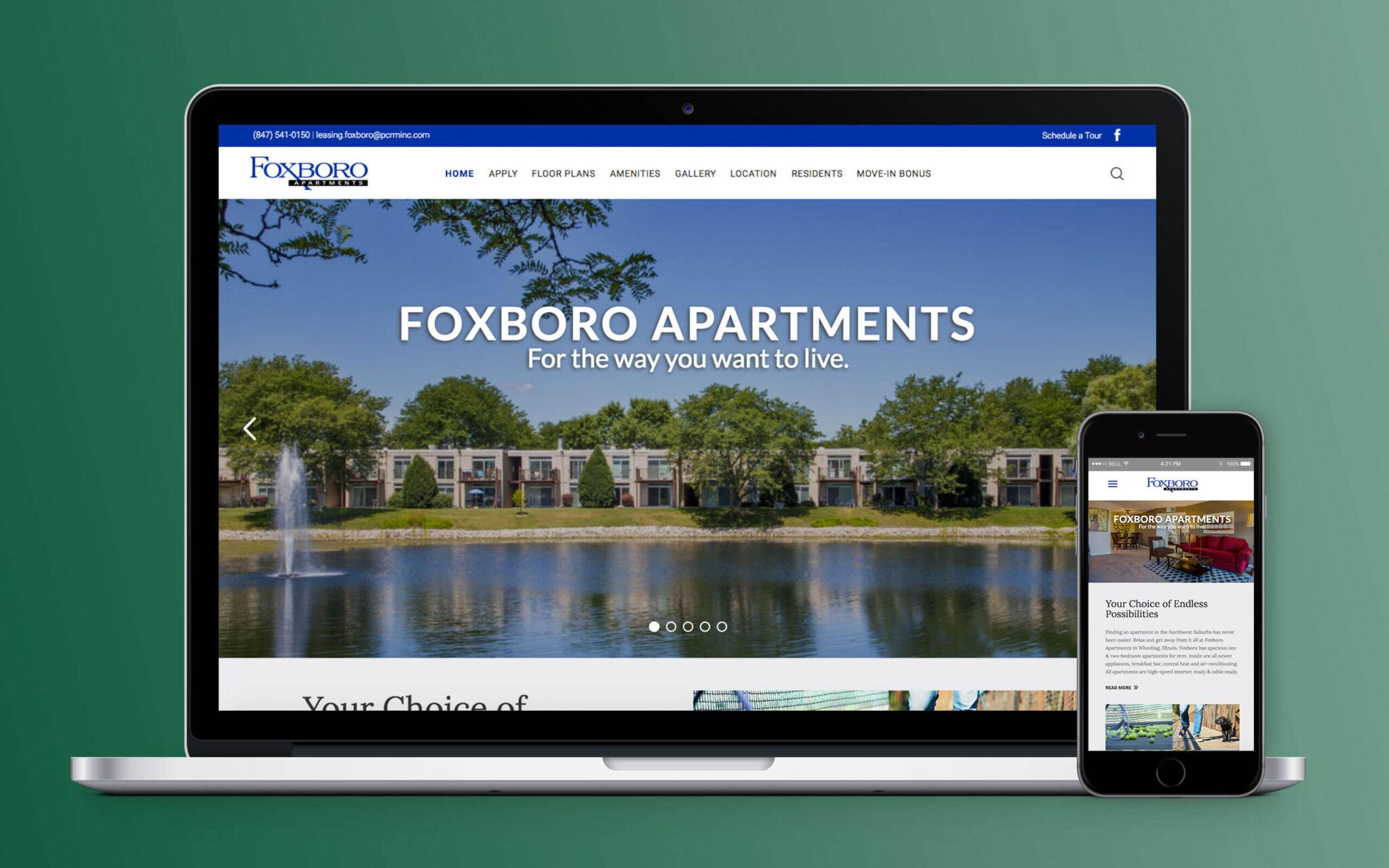 Foxboro Apartments Website Home