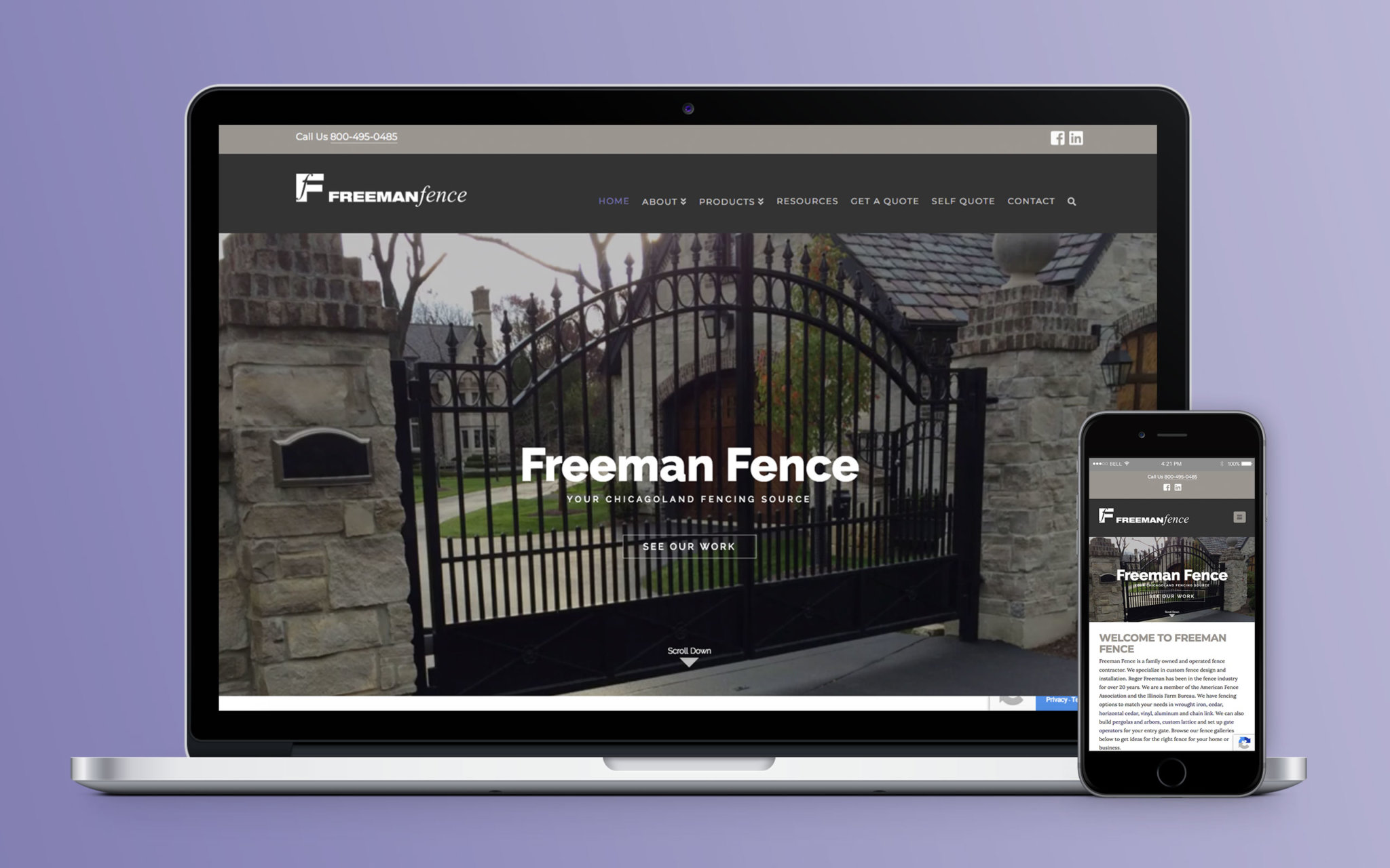 Freeman Fence Website Home
