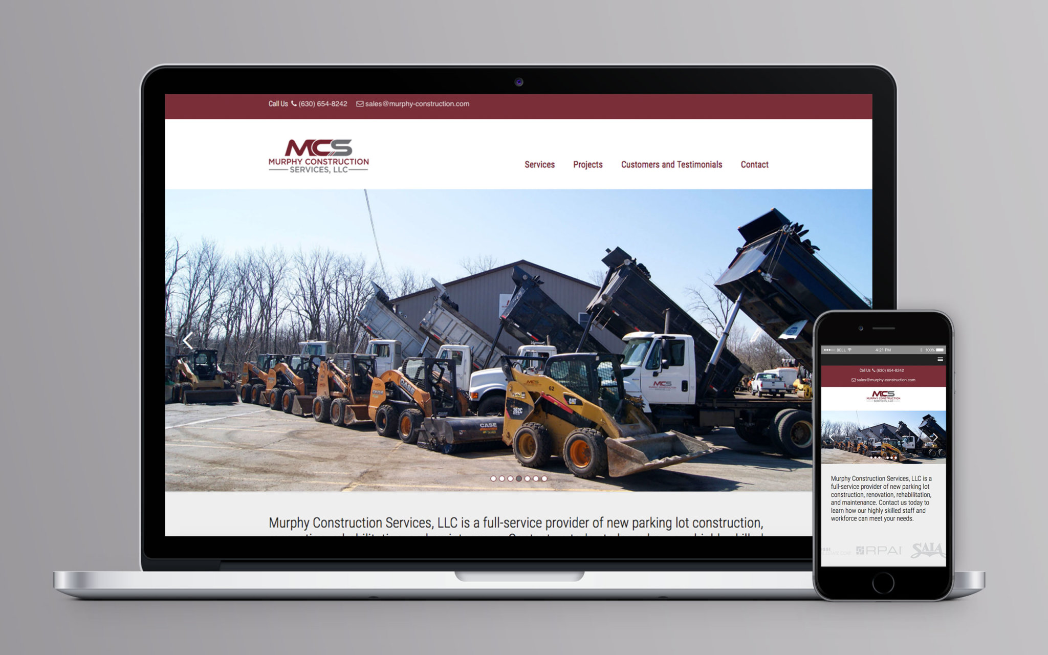 Murphy Construction Website Home