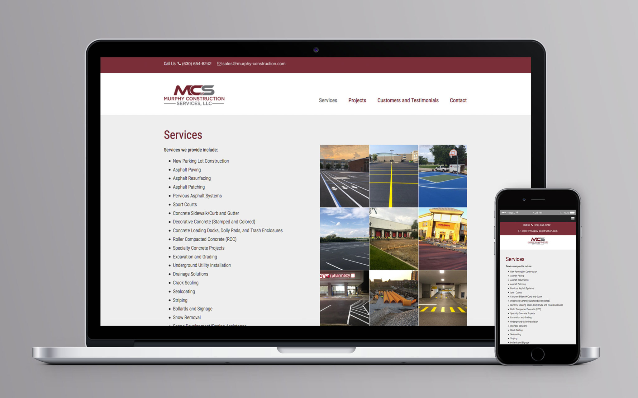 Murphy Construction Website Inside