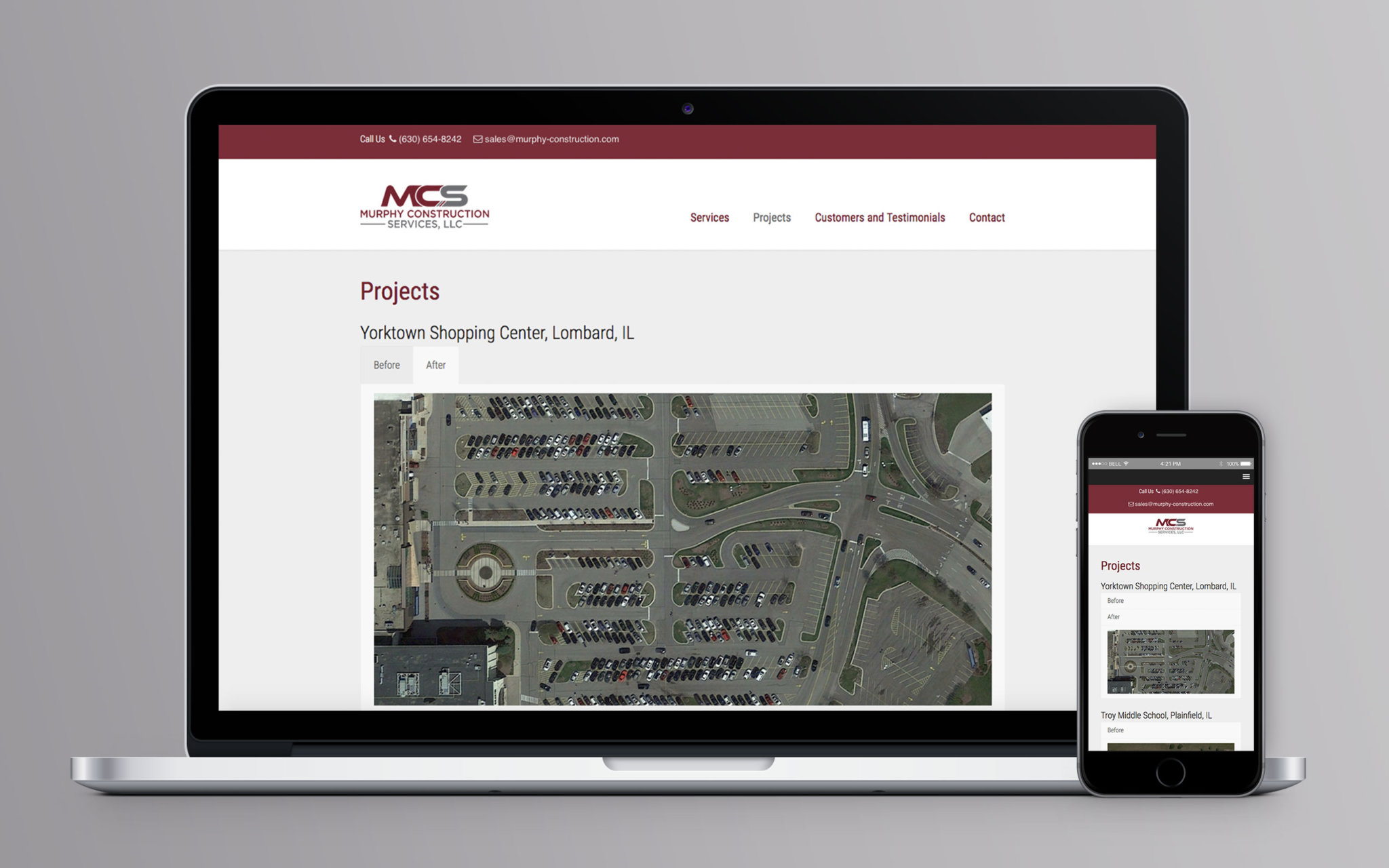 Murphy Construction Website Projects