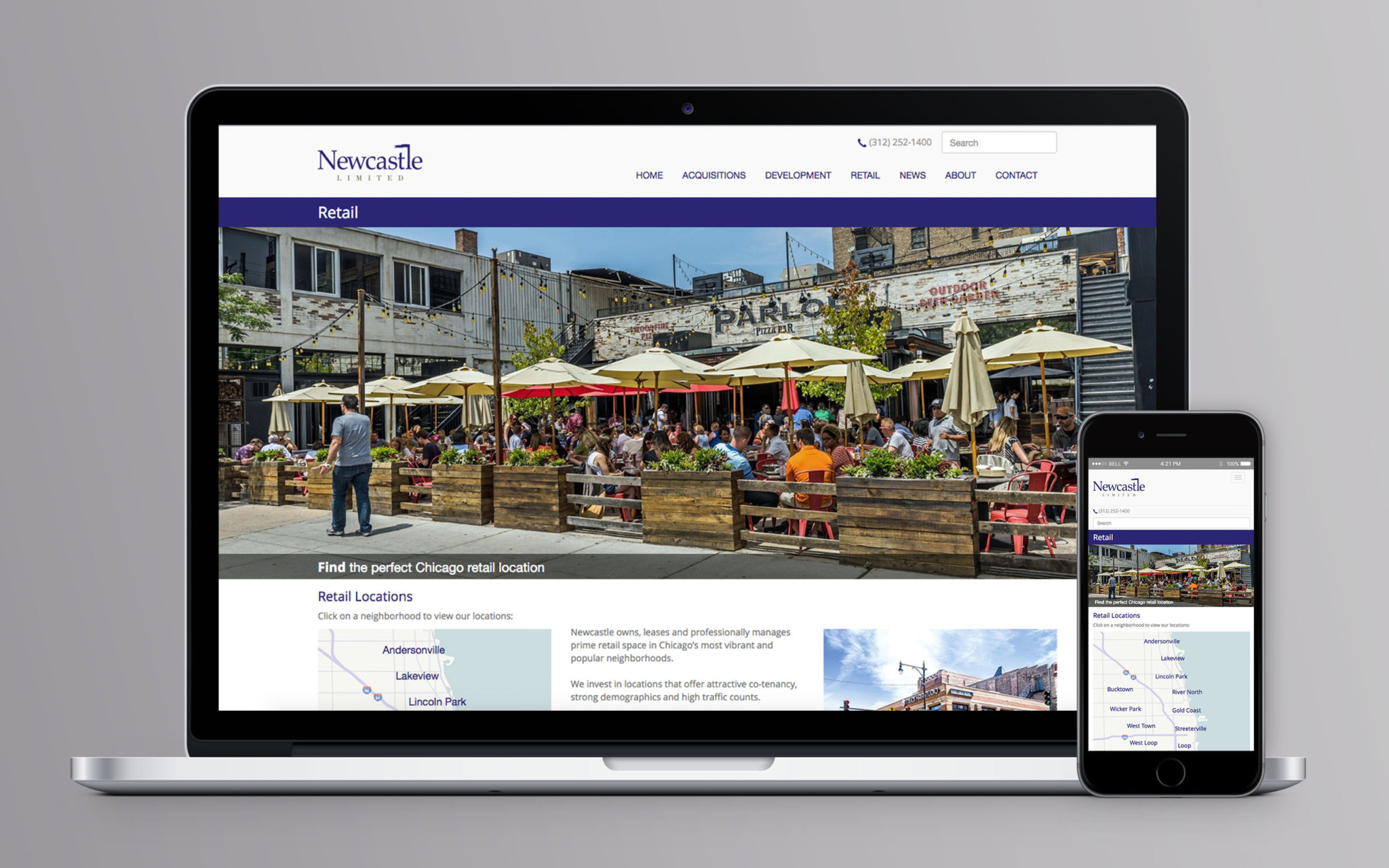 Newcastle Limited Website Retail