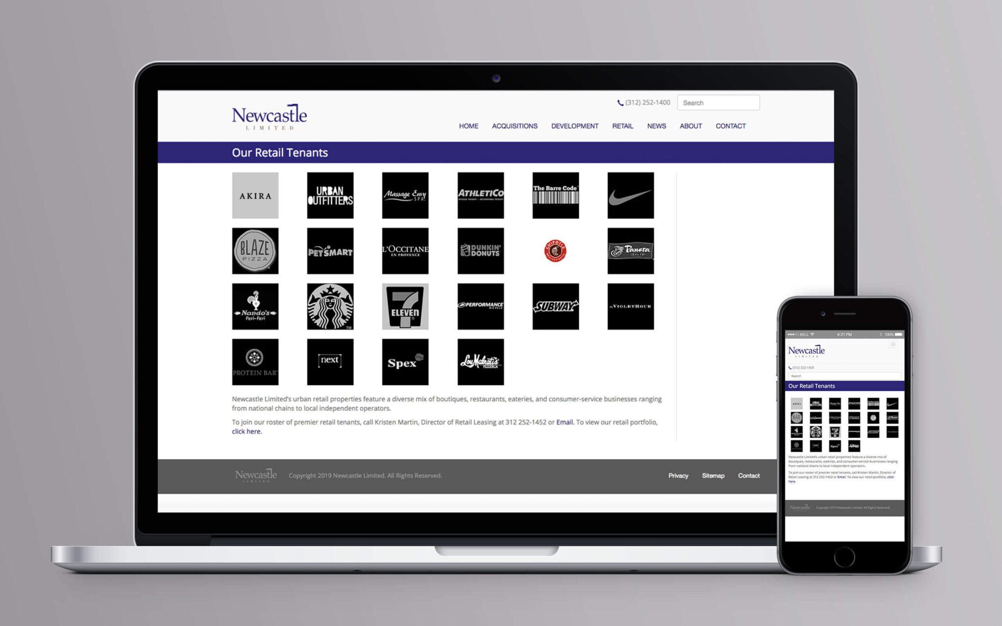 Newcastle Limited Website Retail Tenants