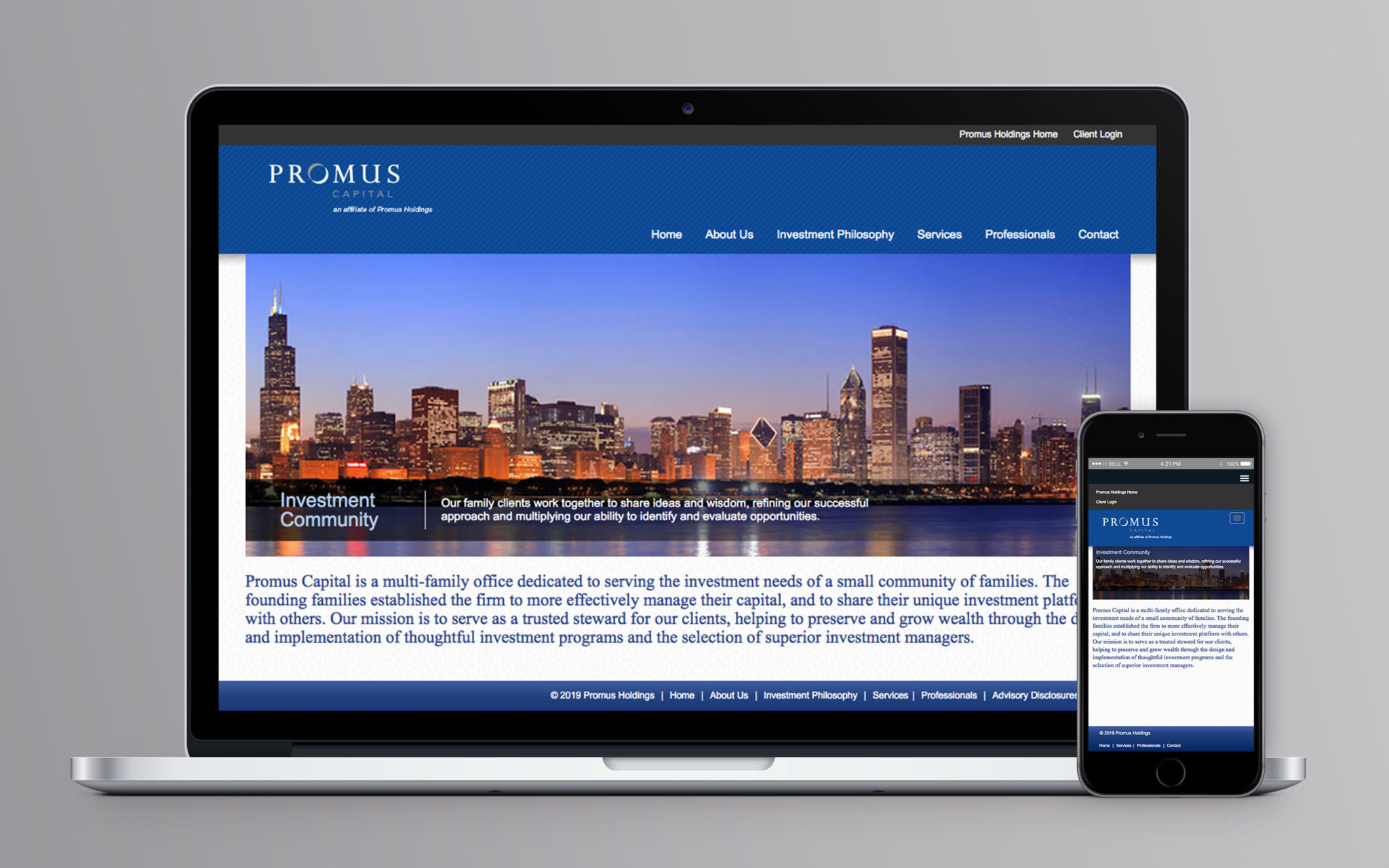 Promus Capital Website Home