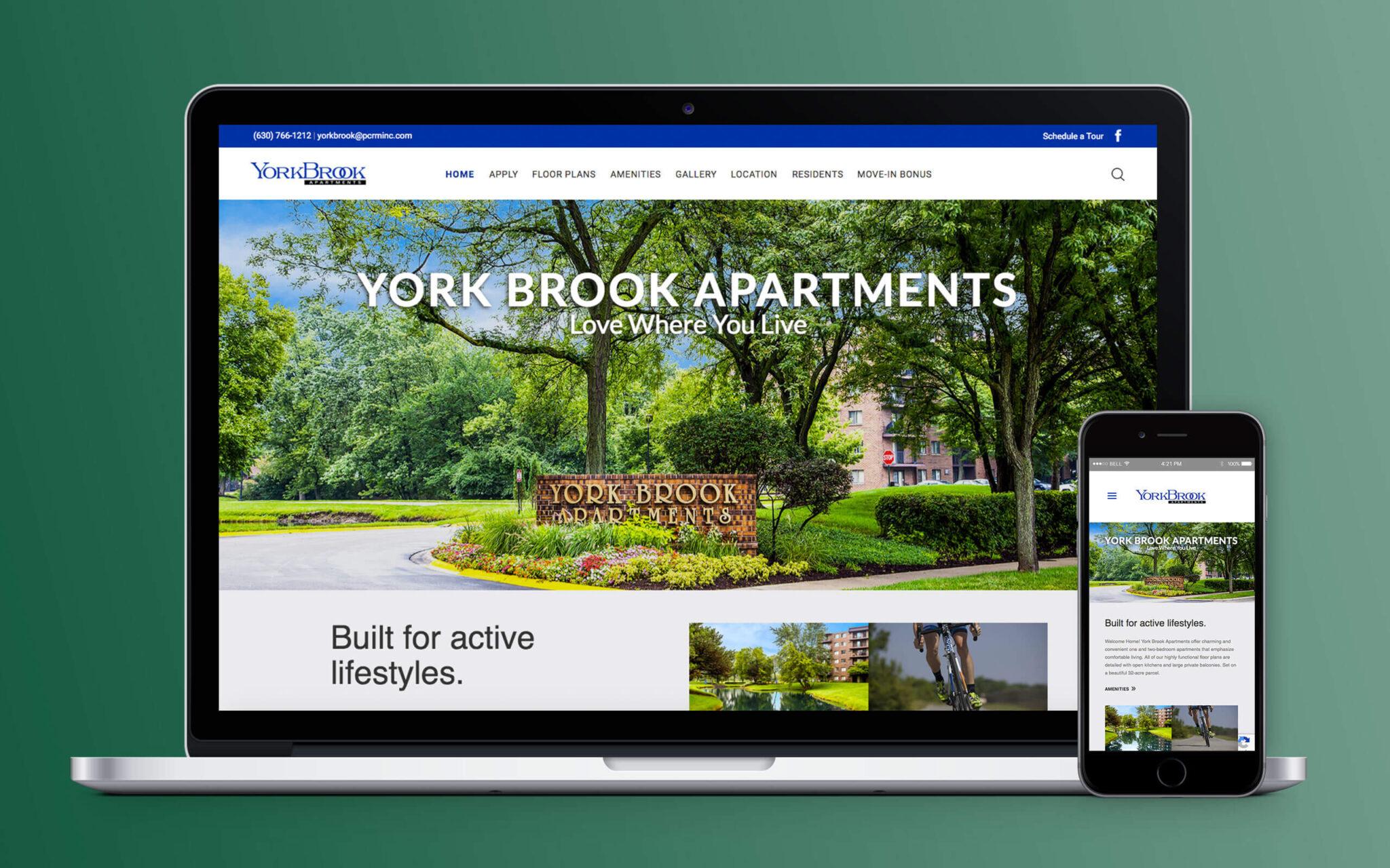 Yorkbrook Apartments Website Home