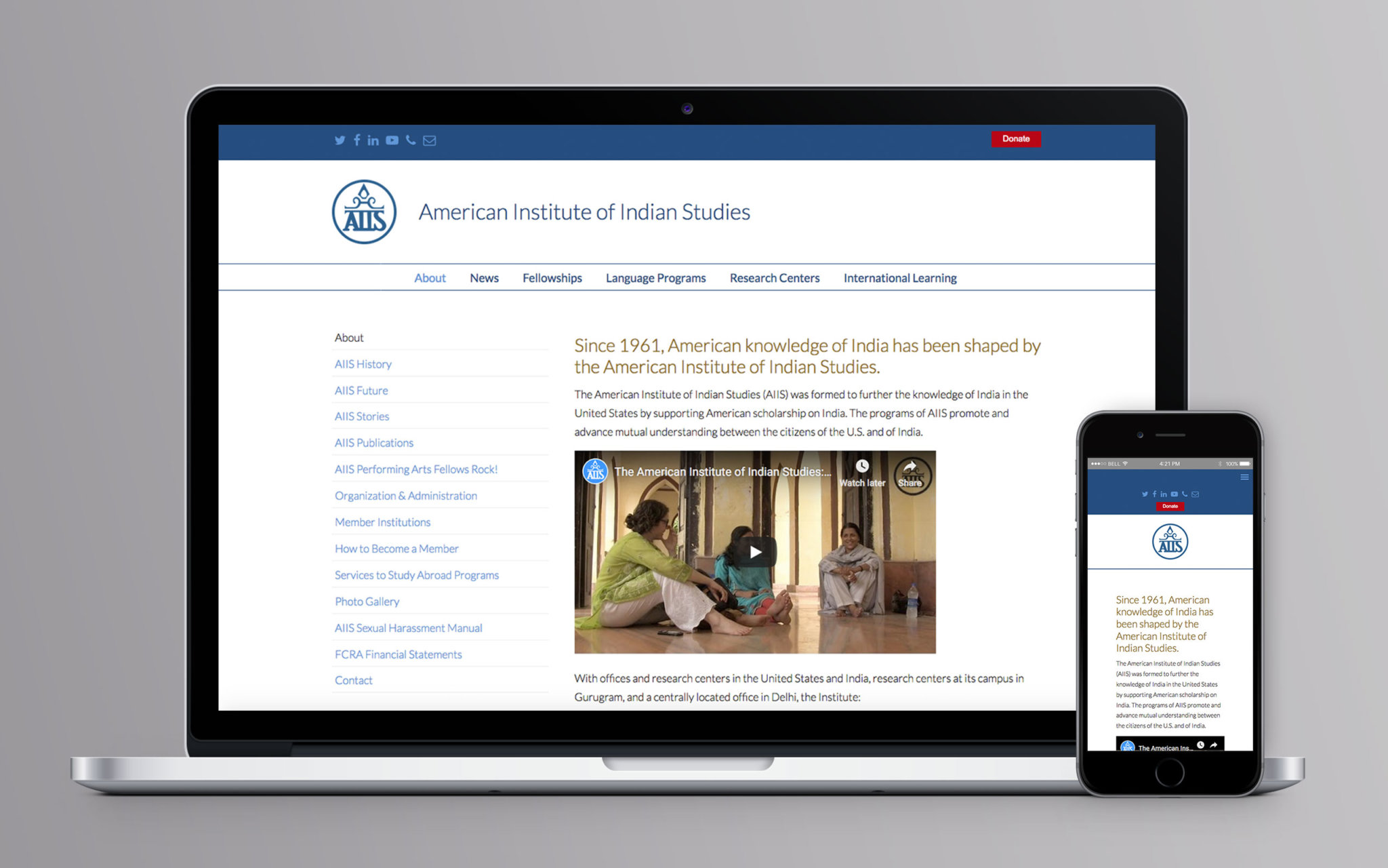 American Institute of Indian Studies American Institute of Indian Studies Website About
