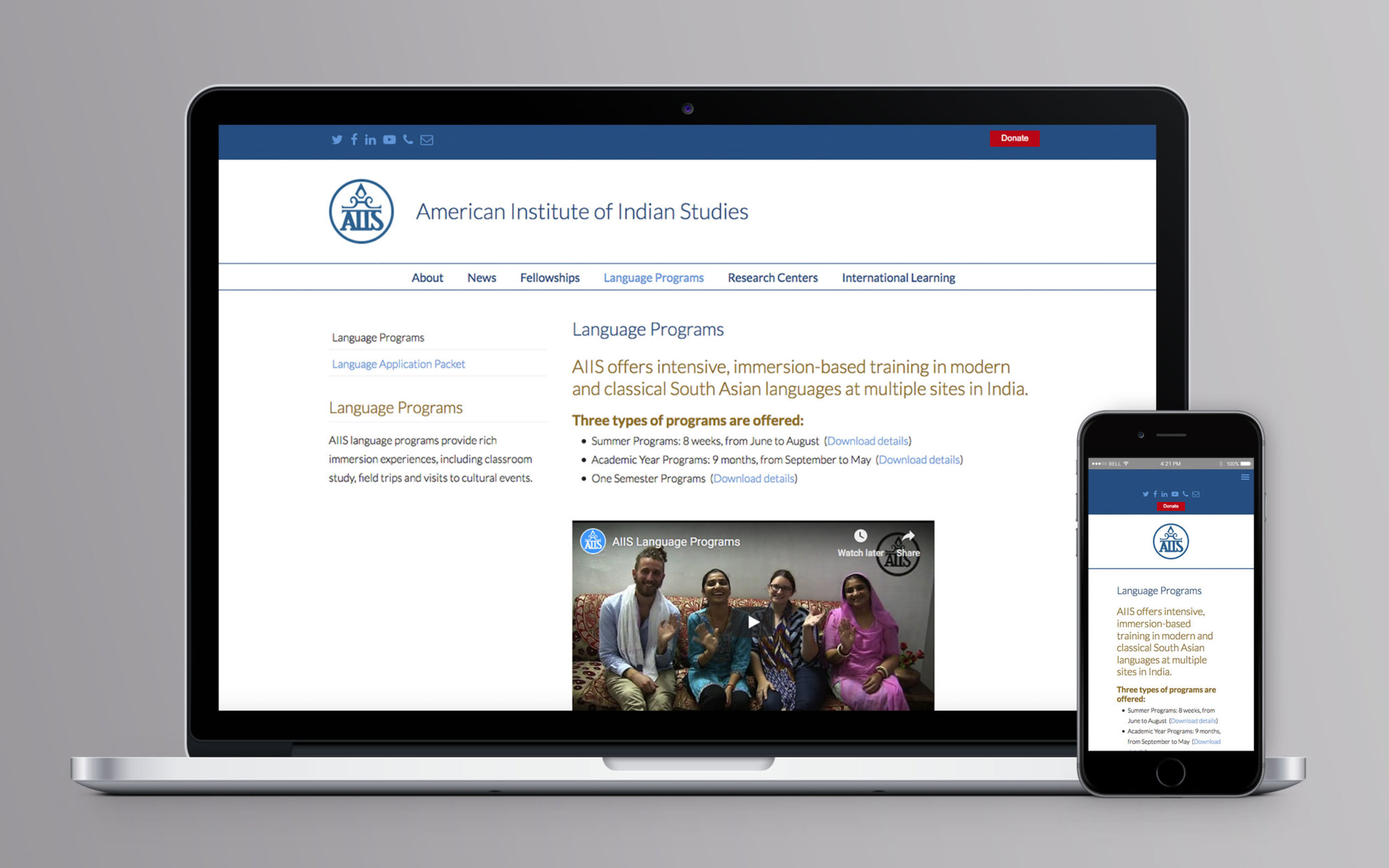 American Institute of Indian Studies American Institute of Indian Studies Website Language