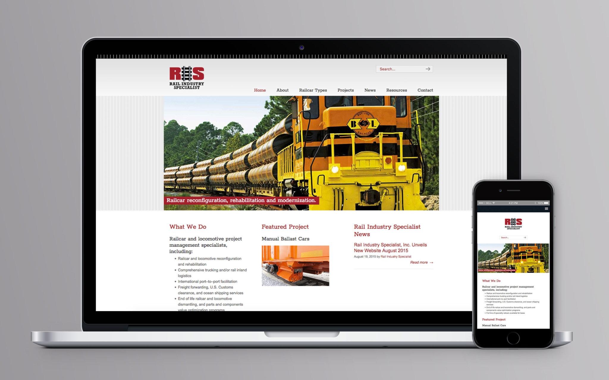 Rail Industry Specialist Website Home
