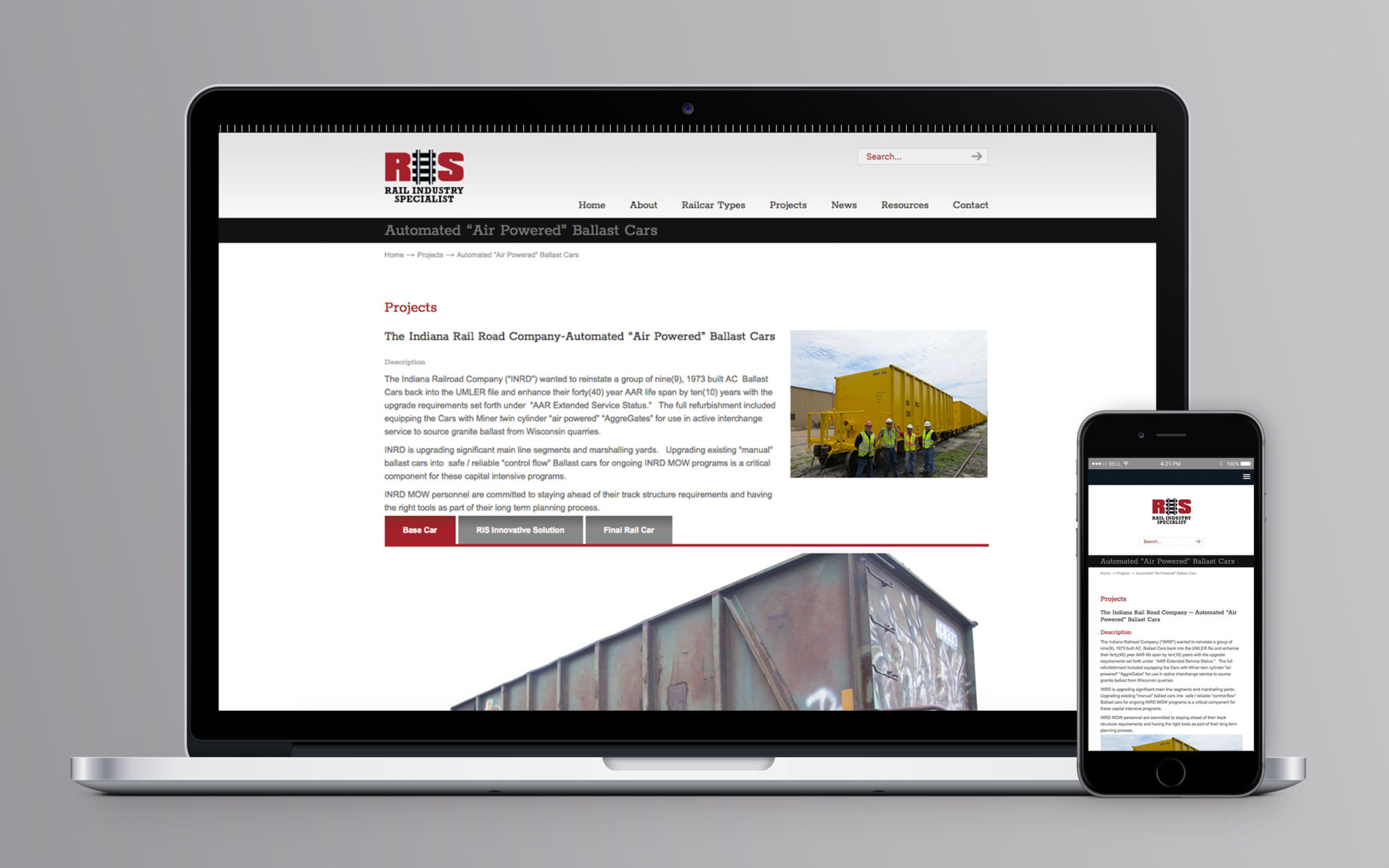 Rail Industry Specialist Website Projects