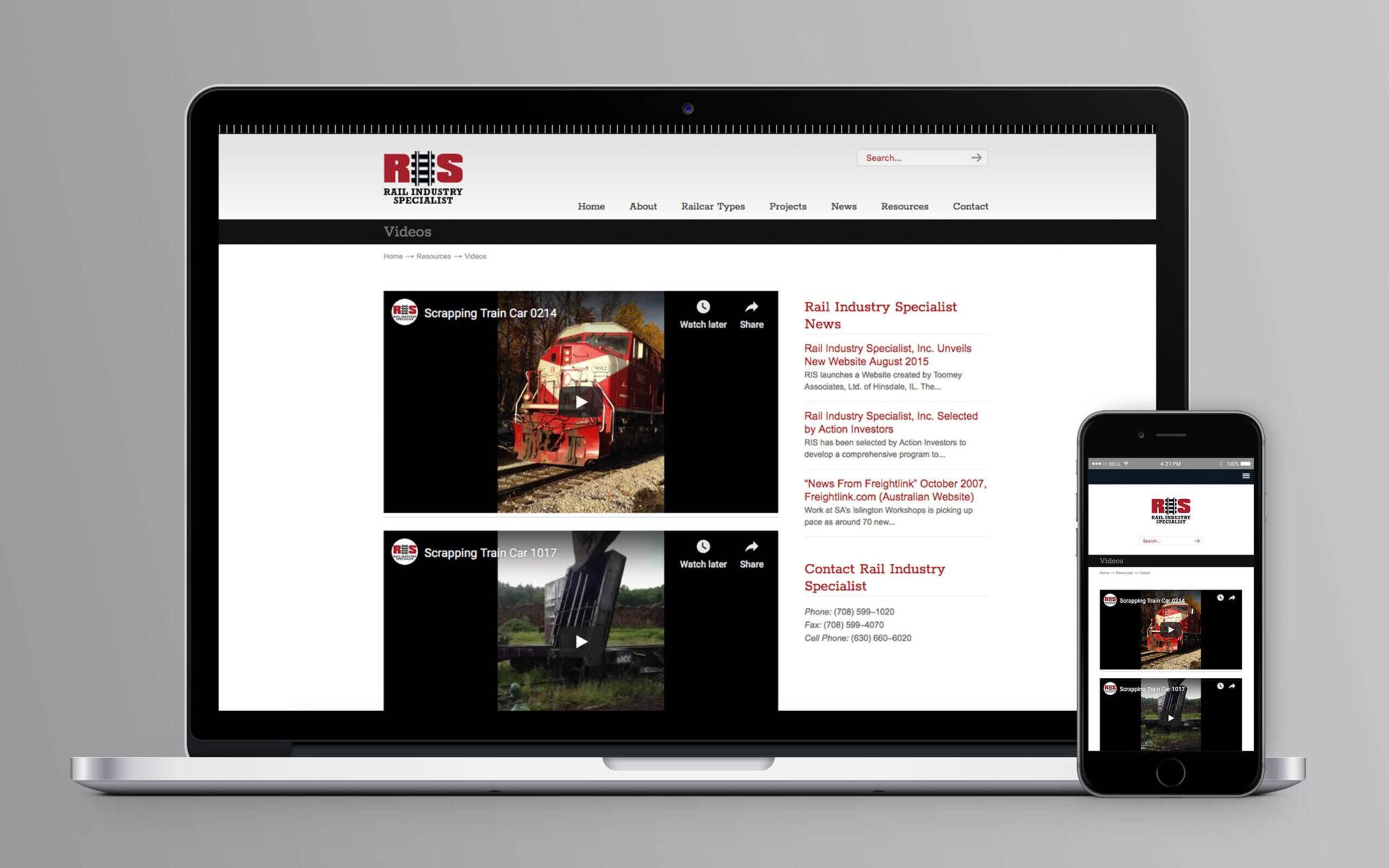 Rail Industry Specialist Website Videos