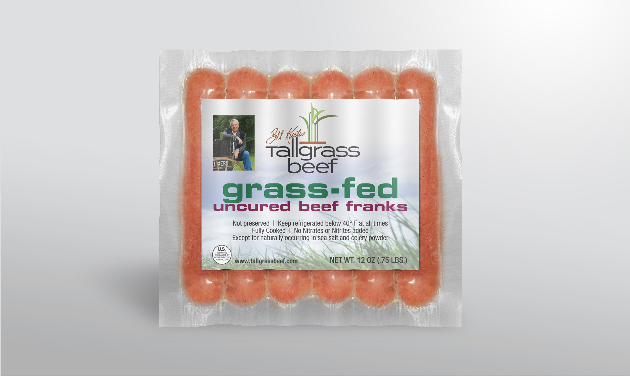 Tallgrass Beef Uncured Franks Packaging