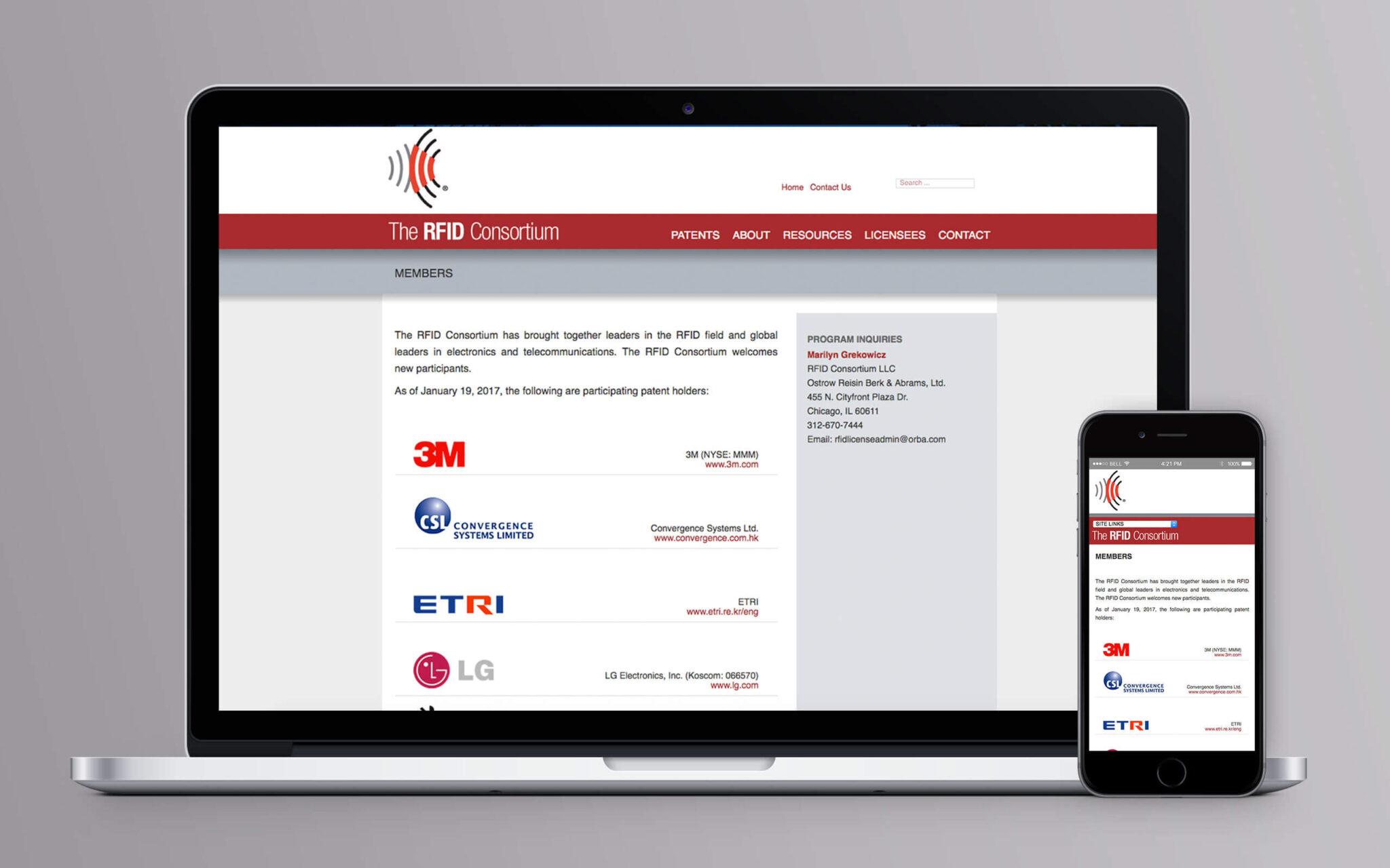 RFID Consortium Website