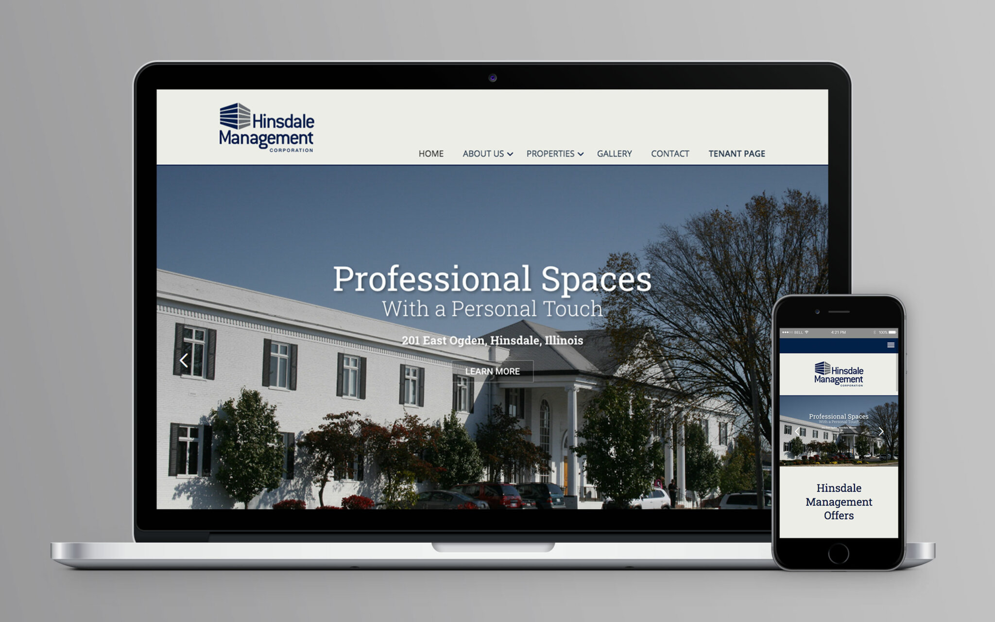 Hinsdale Management Corporation Website Home